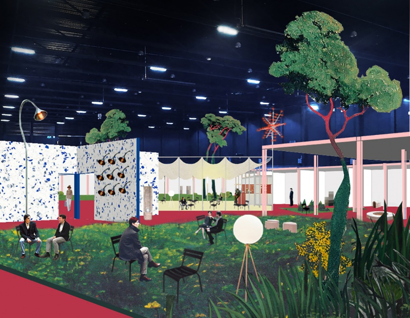 Biennale Interieur - Belgium's leading design and interior event - Render by Piovenefabi for INTERIEUR 2021 scenography